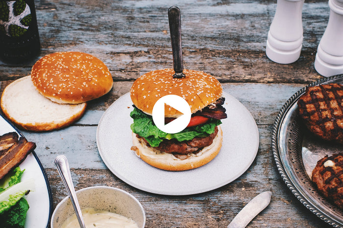 Veal Burger Stuffed with Cheese Curds (VIDEO)