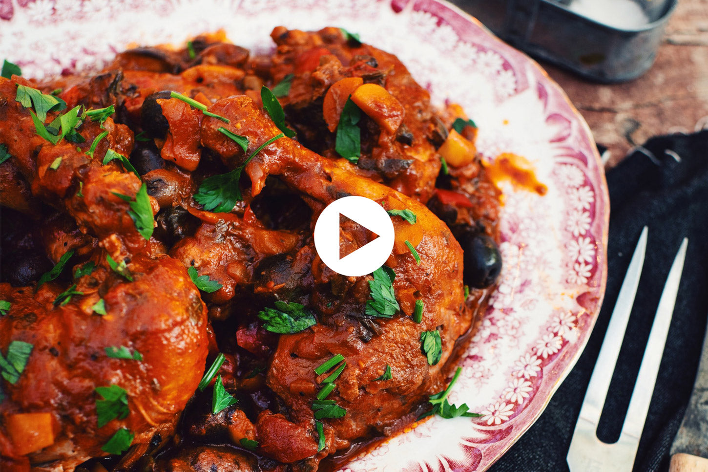 Braised Cacciatore Chicken Legs (VIDEO)