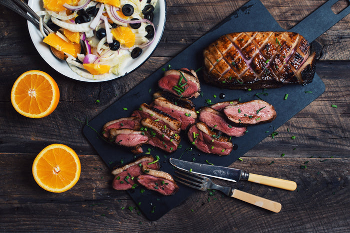 Seared Duck Breasts with Orange Salad