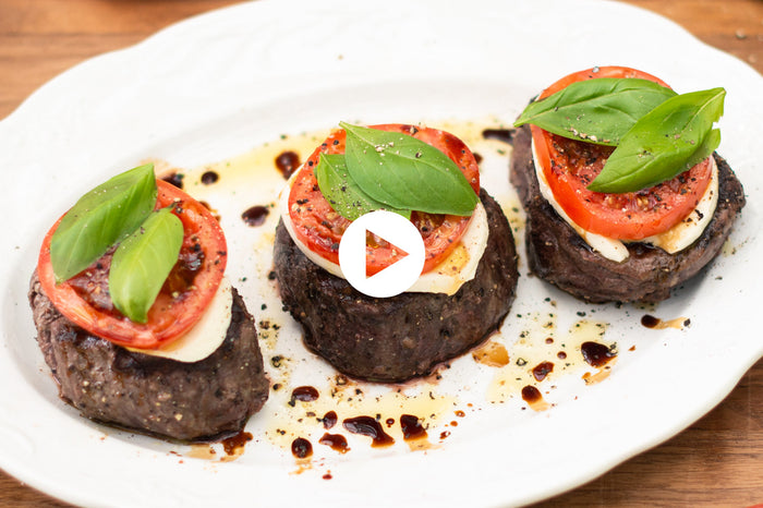Caprese Grilled Filet Mignon (VIDEO)