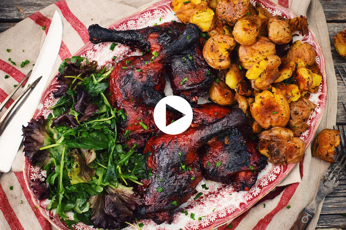 Grilled Asian Duck Legs Char Siu (VIDEO)