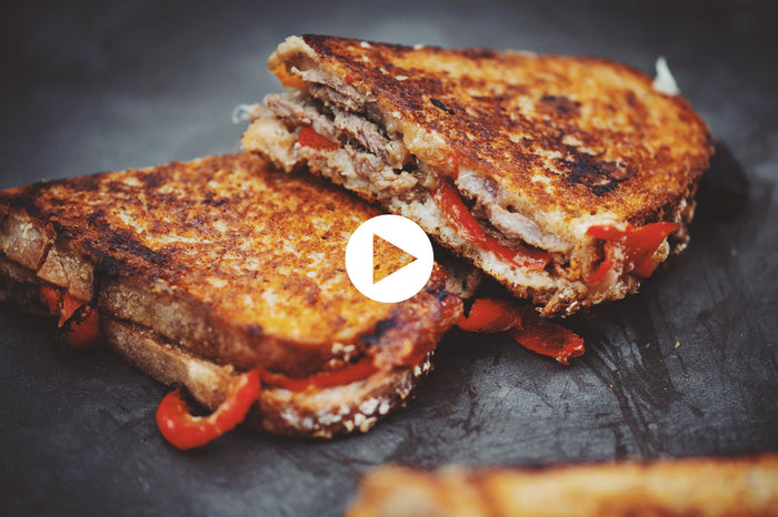 Korean Grilled Sandwich with Beef and Cheese (VIDEO)