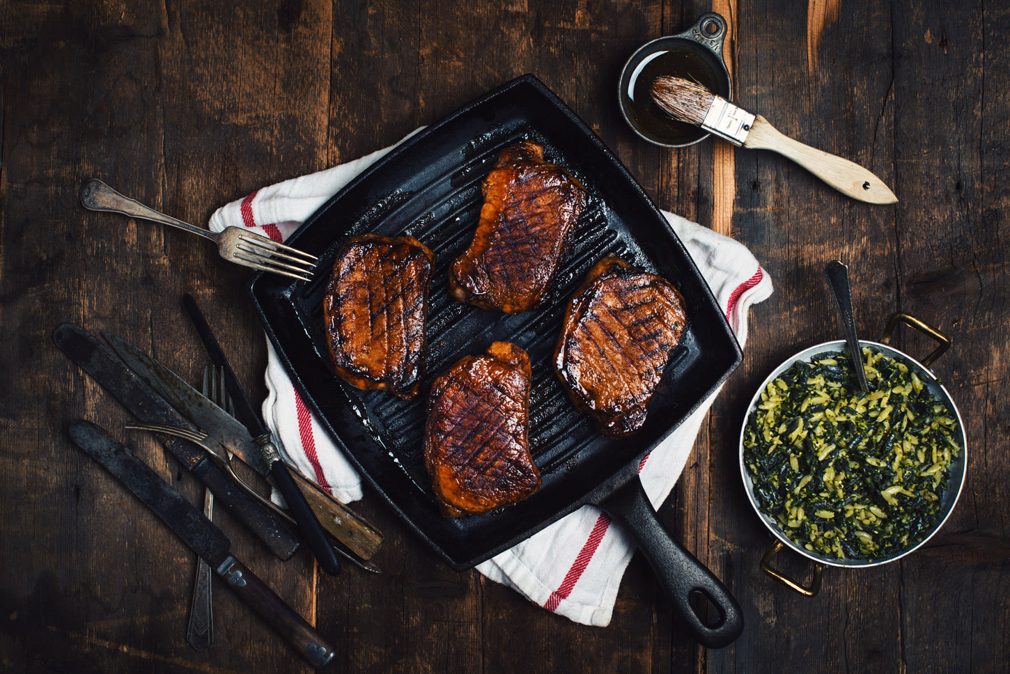 Balsamic Maple Glazed Pork Chops
