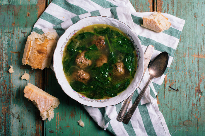 Lamb Meatballs Soup