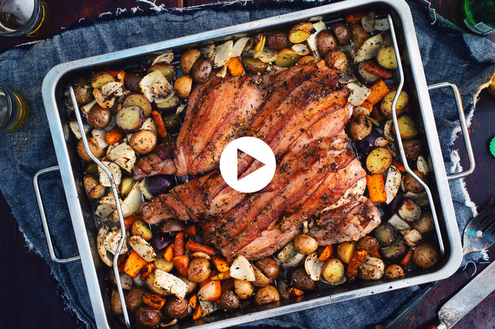 Flattened Chicken with Maple Bacon (VIDEO)