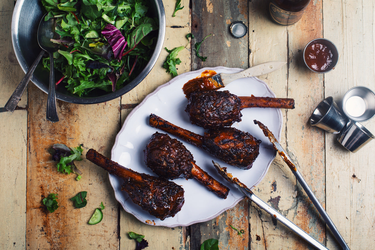 Braised and Barbecued Lamb Shanks