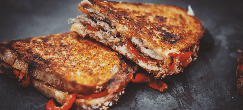 grilled cheese with beef