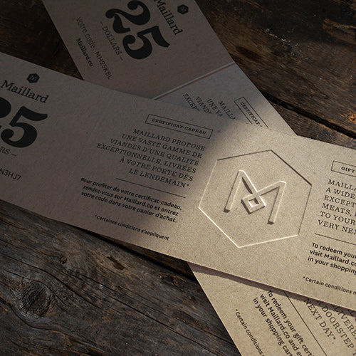 Maillard Physical Gift Card