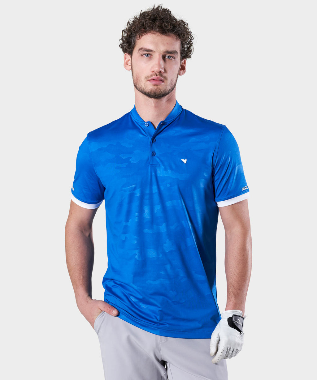 Blue Camo Flex Polo Shirt