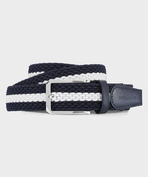Men's Elastic Blue & White Belt