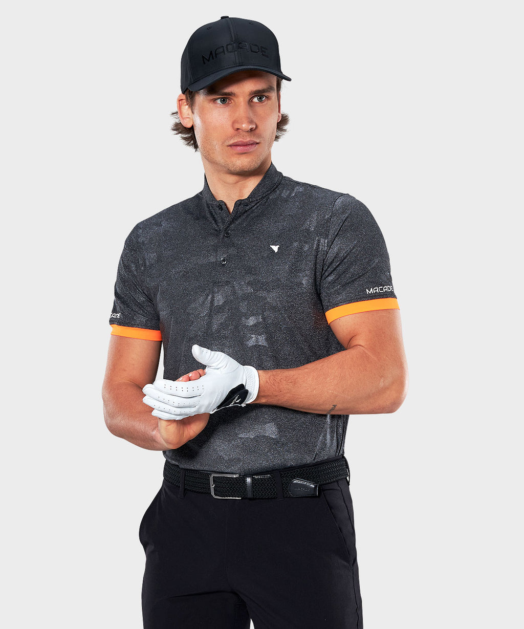 Grey Camo Flex Polo Shirt