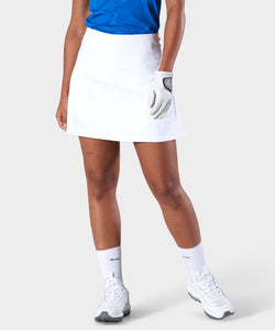 White AR Tech Skort