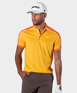 Yellow Performance Bomber Polo Shirt