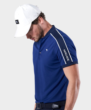 Blue Performance Bomber Polo Shirt