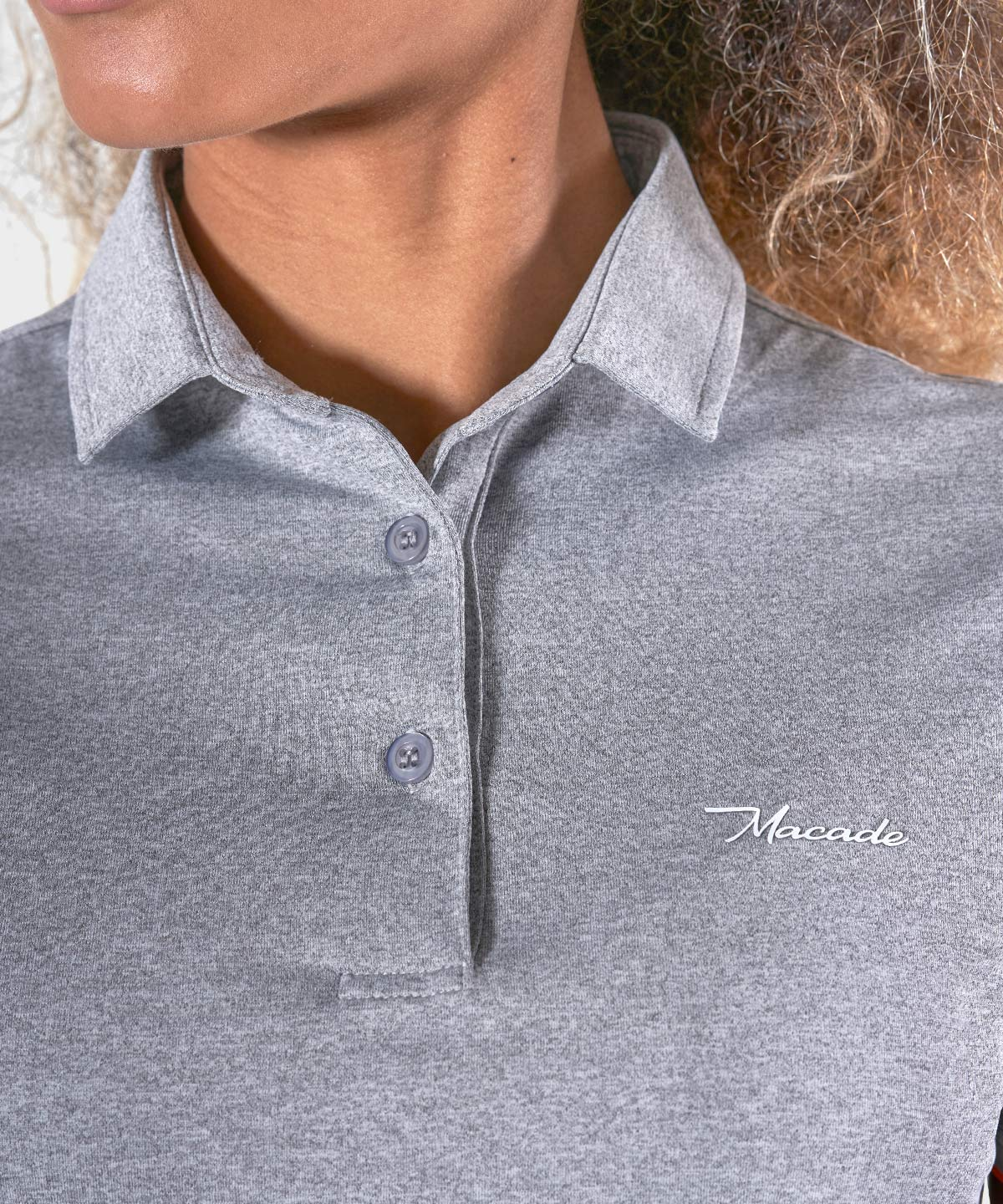 Grey Melange Club Polo Shirt