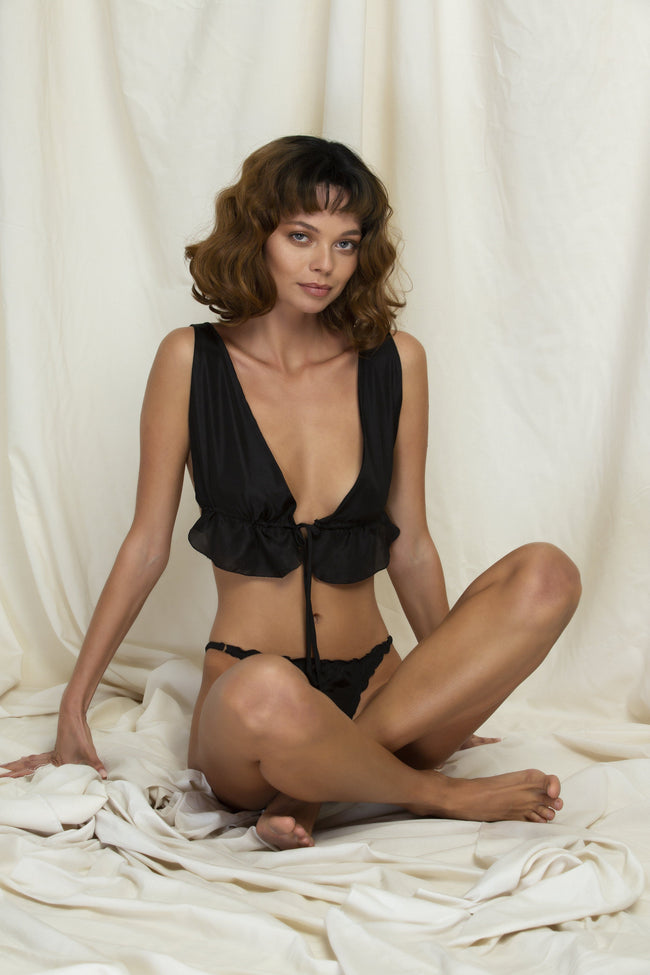 "Set ""Léonard"" Black Silk"