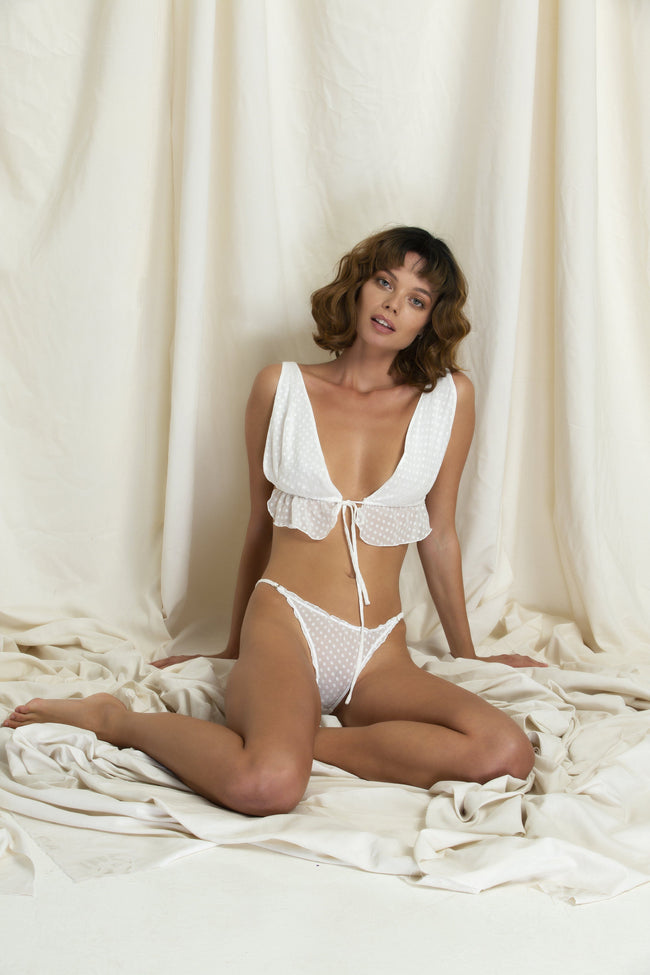 "Set ""Léonard"" White Silk"