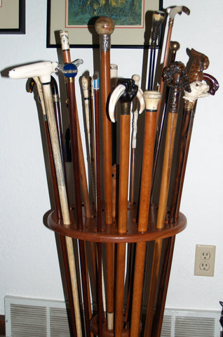 Antique walking canes collection