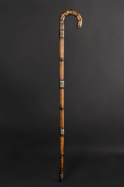 Bamboo travel folding walking cane