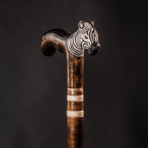 Fritz handle cane zebra