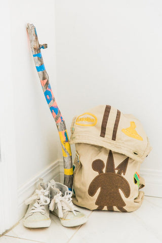 How to create painted walking stick with your child?
