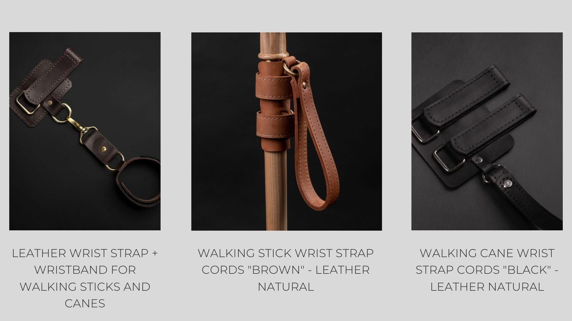 Walking cane accessories wrist straps leather