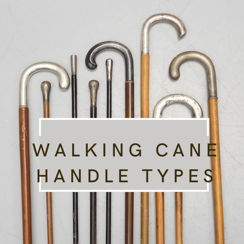 Walking cane handle types
