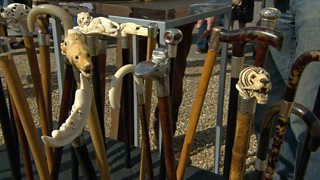 The walking stick collection of Jonathan Howell