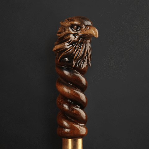 Decorative walking canes eagle