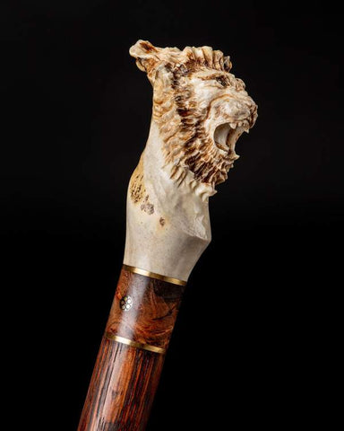 Collector walking cane Lion