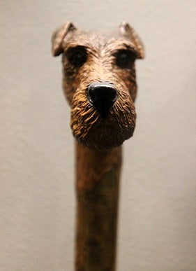 Vintage walking cane dog