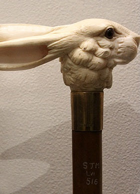 Vintage walking cane rabbit