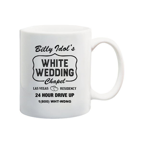 White Wedding Chapel Mug
