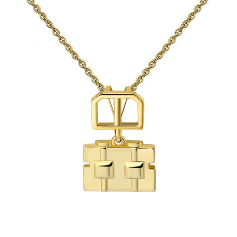 Gold Robot Necklace