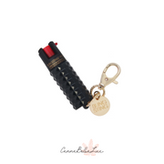 Black Metallic Studded Pepper Spray