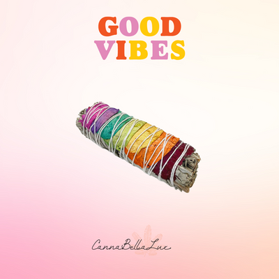 Good Vibes Sage Stick- Chakra Rose White Sage