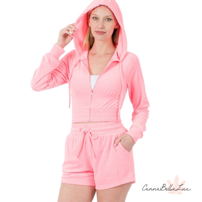Sweet Pink Terry Cloth Set