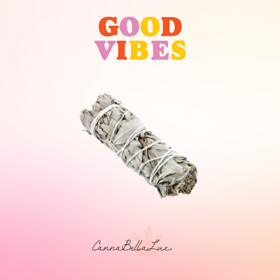 Good Vibes Sage Stick-White