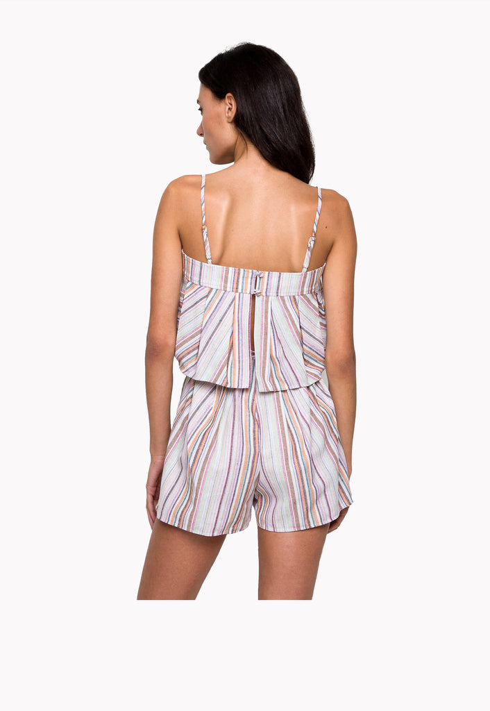 Linen Stripe Top & Short Set