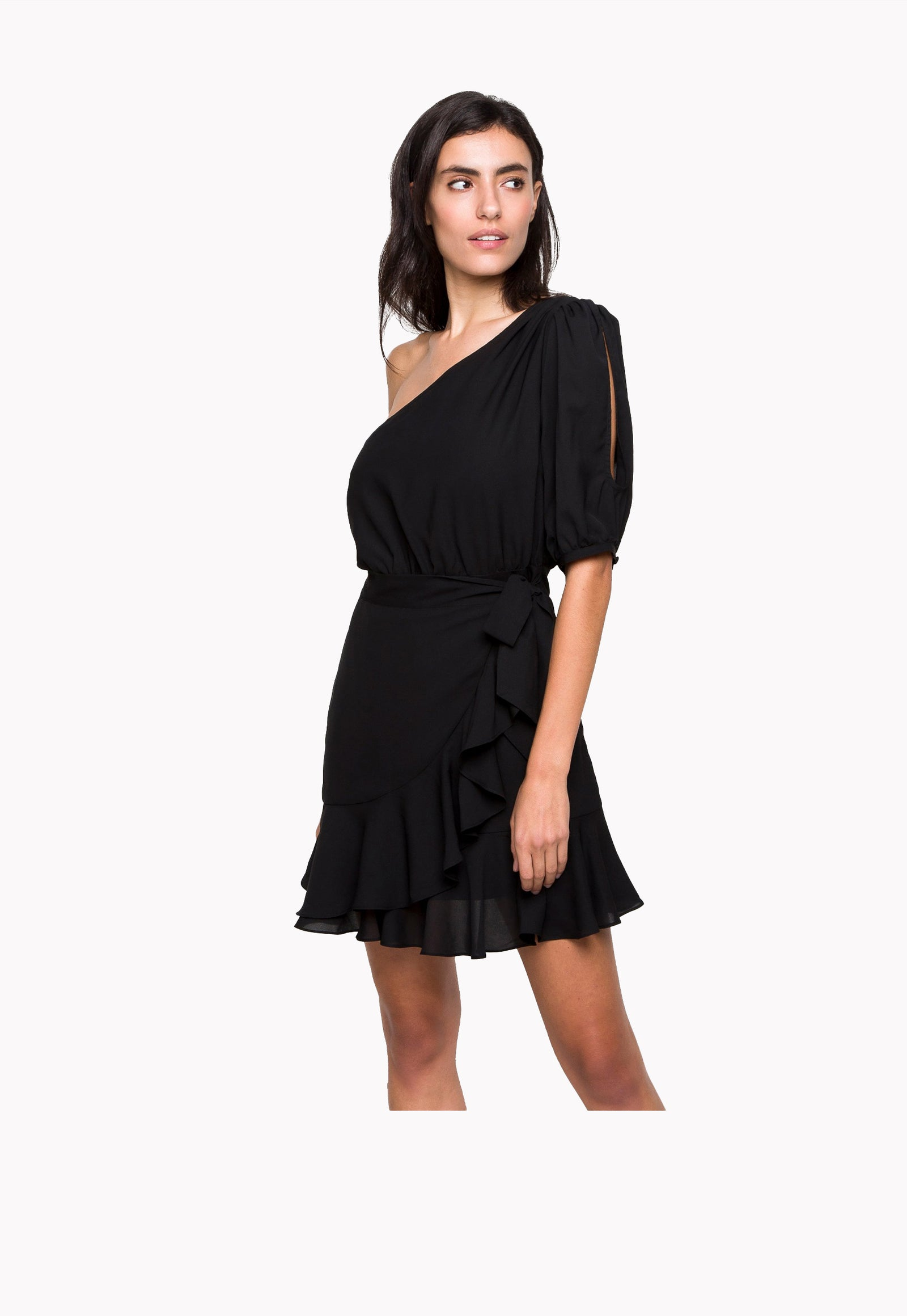 Palms One Shoulder Dress