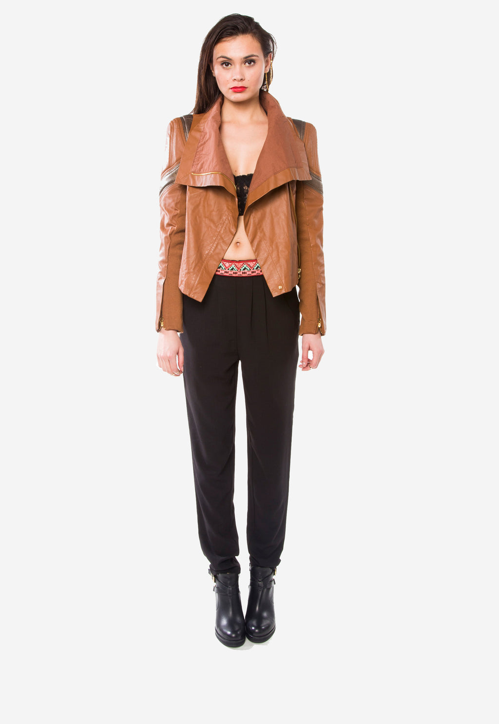 Chloe Leather Moto Jacket
