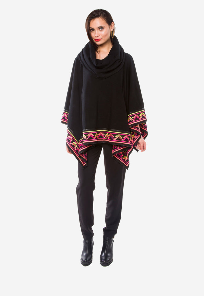 Desert Embroidered Poncho