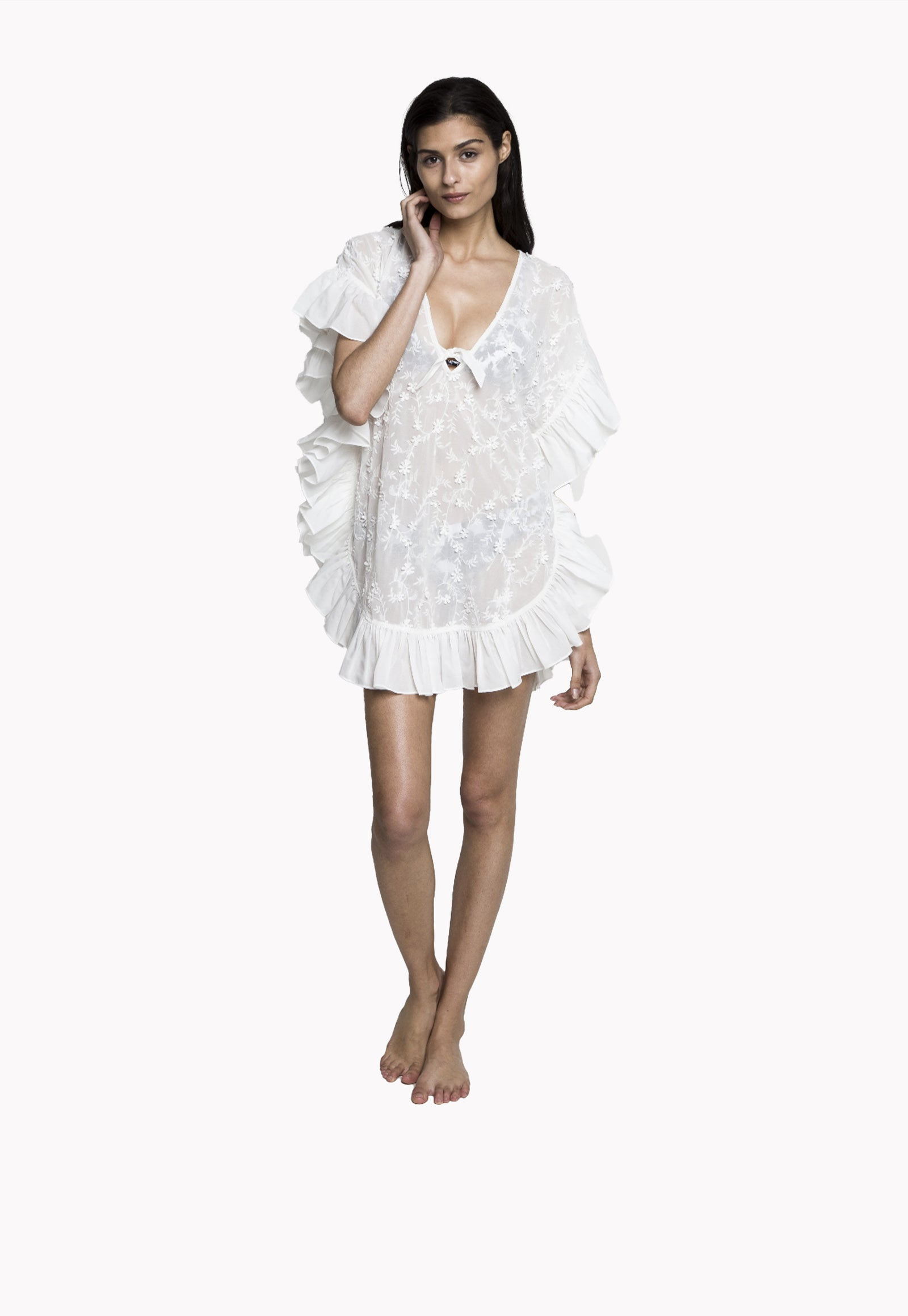Whiteshore Lace Cover Up