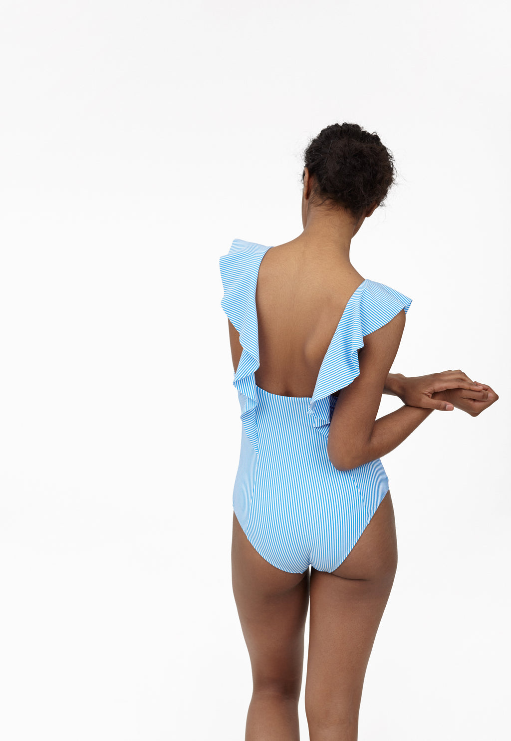 6 Shore Road Sea Voyage One Piece Blue Striped Swimsuit in XS, S, M, L - Summer 2018 Collection