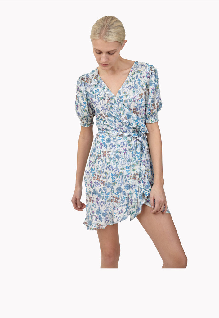 Sea Ripple Wrap Dress
