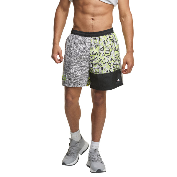 Limited Edition Champion x MTV Crinkle Nylon Colorblock Shorts