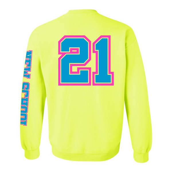 Wild 'N Out Neon Yellow New School Adult Crew Neck Sweatshirt