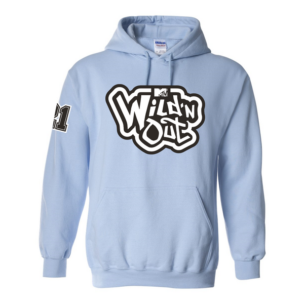 Wild 'N Out Logo Light Blue Hooded Sweatshirt