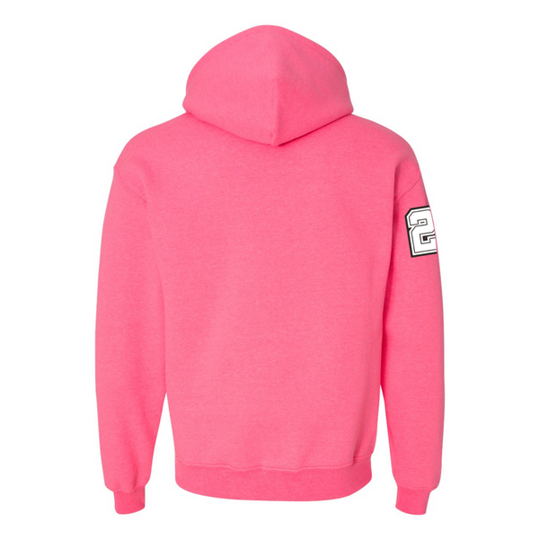 Wild 'N Out Logo Neon Pink Hooded Sweatshirt
