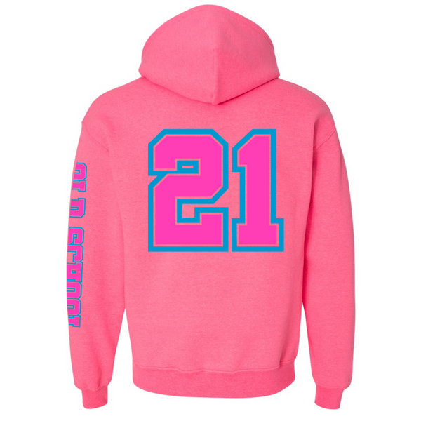 Wild 'N Out Neon Pink Old School Hooded Sweatshirt
